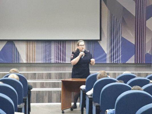 Встреча инспектора ОГИБДД с первоклассниками