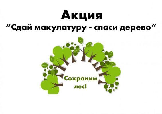 Сдай макулатуру – сохрани дерево!
